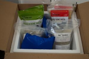 opened box of bone broth